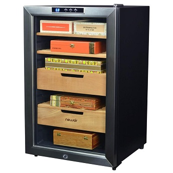 NewAir 400 Count Cigar Humidor Climate Controlled with Opti Temp left 1024x1024